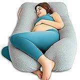 QUEEN ROSE Almohada con Forma de U, Almohada de Embarazo y Maternidad con Funda extraíble y Lavable