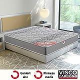 Pikolin Egeo - Colchón viscoelástico carbono de gama alta, máxima calidad y confort, firmeza media, altura 24 cm, 135 x...
