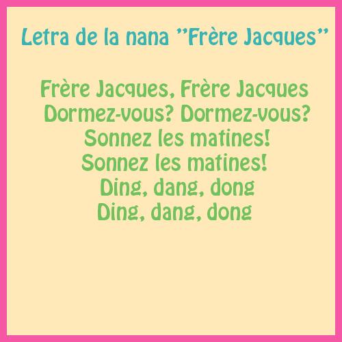 canción infantil en francés letra